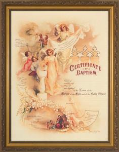 Certificate of Baptism II Gold Framed