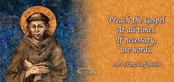 St. Francis by Cimabue 'Preach the Gospel' Mug