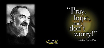St. Padre Pio with Quote Mug