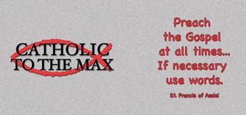 Catholic to the Max Gray Mug