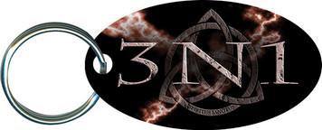 3N1 Storm Oval Keychain