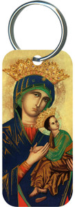 Mother of Perpetual Help Rectangle Keychain