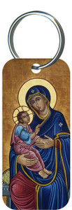 Our Lady of Good Health Rectangle Keychain