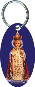 Infant of Prague Oval Keychain