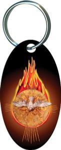 Holy Spirit Fire Oval Keychain
