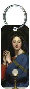 Madonna of the Host Rectangle Keychain