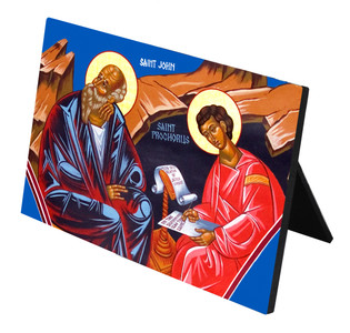 St. John & St. Prochorus Horizontal Desk Plaque