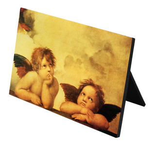 Sistine Madonna Angels Horizontal Desk Plaque