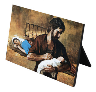 Holy Family Horizontal Desk Plaque