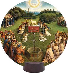 Altar of the Lamb Detail Round Desk Plaque