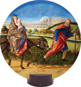 Flight into Egypt Round Desk Plaque
