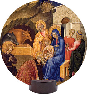 Adoration of the Three Magi Round Desk Plaque