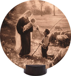 Gift of the Shepherd Round Desk Plaque