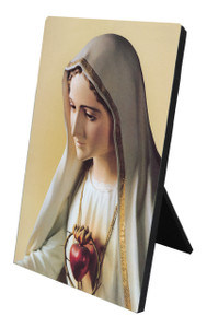 Our Lady of Fatima Vertical Desk Plaque
