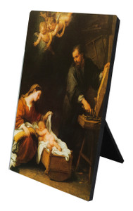 Holy Family by Murillo Vertical Desk Plaque