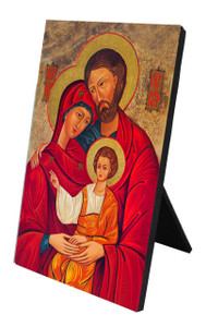 Holy Family Icon Vertical Desk Plaque