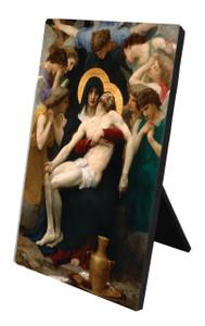 La Pieta Vertical Desk Plaque