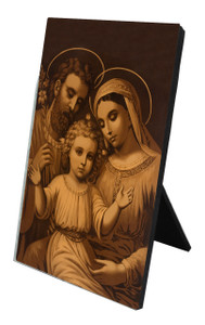 Holy Family (Antique) Vertical Desk Plaque