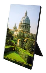 Vatican Gardens Vertical Desk Plaque