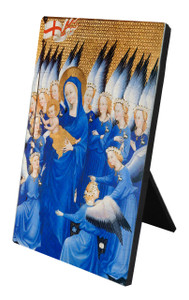 Madonna, Infant & Angels Vertical Desk Plaque