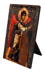 Annunciation Icon (St. Gabriel) Vertical Desk Plaque