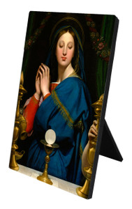 Madonna of the Host Vertical Desk Plaque