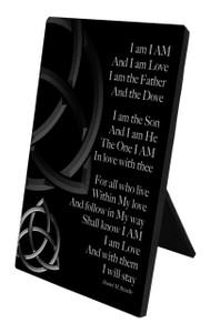 Trinity Poem Vertical Desk Plaque