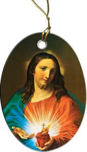 Sacred Heart Holding Heart Ornament