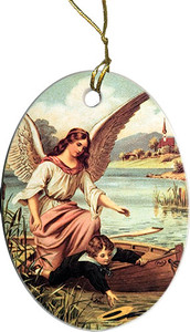 Guardian Angel on the Boat Ornament