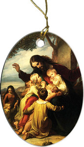 Jesus with the Children Ornament