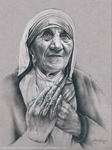 Mother Teresa by Lisa Brown Poster