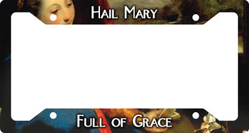 Hail Mary Plate Frame