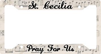 St. Cecilia Plate Frame