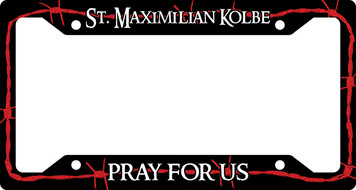 St. Maximilian Kolbe Plate Frame
