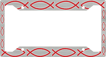 Ichthus Fish Red Plate Frame
