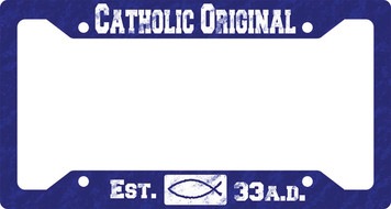 Catholic Original Blue Plate Frame