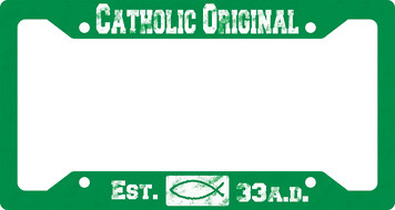 Catholic Original Green Plate Frame