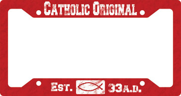 Catholic Original Red Plate Frame
