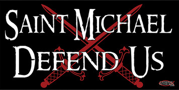 St. Michael Defend Us Vinyl Bumper Sticker