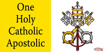 One Holy Catholic Apostolic Vinyl Bumper Sticker