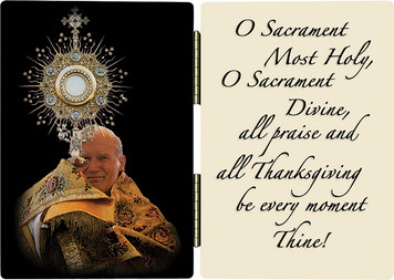 St. John Paul II with Monstrance Diptych