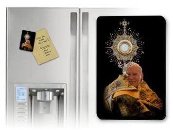 St. John Paul II with Monstrance Magnet