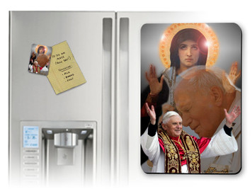 Popes and Mary Collage Magnet