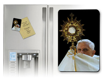 Pope Benedict with Monstrance Magnet