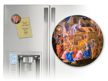 Adoration of the Magi Round Magnet