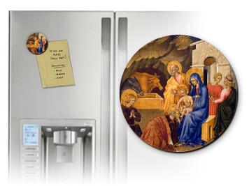 Adoration of the Three Magi Round Magnet