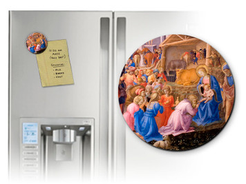 Adoration of the Magi Detail Round Magnet