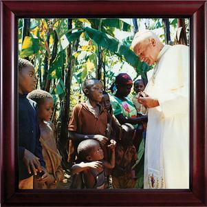 Pope John Paul II with Children Framed Art