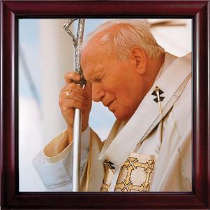 Pope John Paul II in Prayer Framed Art