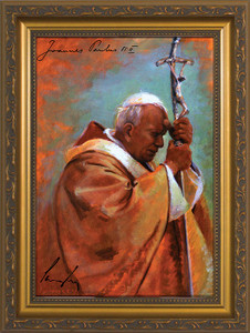 Pope John Paul II by James Langley Framed Art